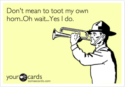 blow your own horn